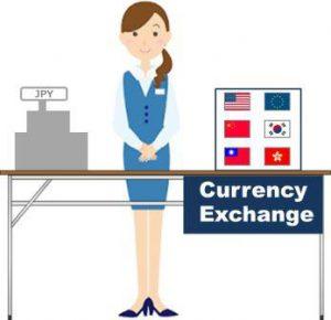 外貨両替ブース