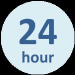 24時間営業のロゴ