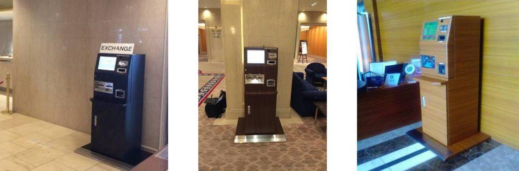 自動外貨両替機 ホテル設置例