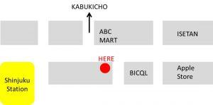 currency exchange shinjuku 外貨両替機 新宿 map